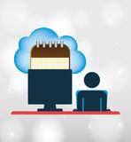 Cloud computing design Royalty Free Stock Photo