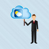 Cloud computing design. Illustration eps10 graphic Stock Photo