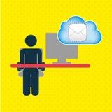 Cloud computing design Royalty Free Stock Photos