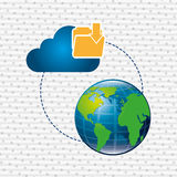 Cloud computing design. Illustration eps10 graphic Royalty Free Stock Image