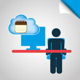 Cloud computing design Stock Photos