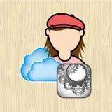 Cloud computing design Royalty Free Stock Image