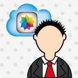 Cloud computing design. Illustration eps10 graphic Stock Images