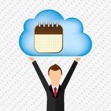 Cloud computing design Royalty Free Stock Images
