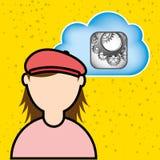 Cloud computing design Stock Photos