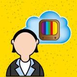 Cloud computing design Stock Image