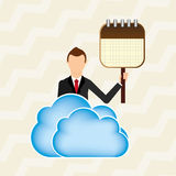 Cloud computing design. Illustration eps10 graphic Royalty Free Stock Images