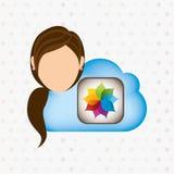 Cloud computing design. Illustration eps10 graphic Stock Photography