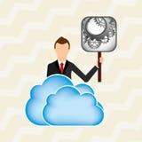 Cloud computing design. Illustration eps10 graphic Stock Image
