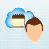 Cloud computing design Stock Images