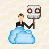 Cloud computing design Stock Images