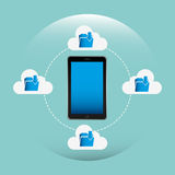 Cloud computing design. Illustration eps10 graphic Stock Photography