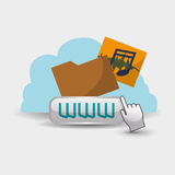 Cloud computing design. Media icon. Isolated illustration. Cloud computing concept with icon design, vector illustration 10 eps graphic Royalty Free Stock Images