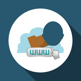 Cloud computing design. Media icon. Isolated illustration. Cloud computing concept with icon design, vector illustration 10 eps graphic Royalty Free Stock Image