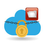 Cloud computing design. social media icon. online concept. Cloud computing concept with icon design, vector illustration 10 eps graphic Royalty Free Stock Photography