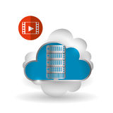 Cloud computing design. Trip icon. Flat illustration, technology vector Stock Photography