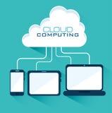 Cloud computing design. Royalty Free Stock Photos