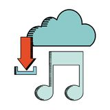 Cloud computing design. Vector illustration eps10 graphic Royalty Free Stock Images