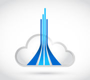 Cloud computing destination lines Royalty Free Stock Photography