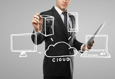 Cloud computing diagram Stock Images