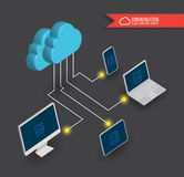 Cloud computing diagram 3D style. Stock Images