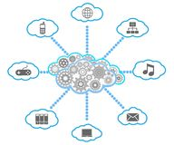 Cloud computing diagram Stock Image