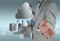 A Cloud Computing diagram on the new computer interface Stock Photos