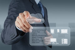 A Cloud Computing diagram on the new computer interface Royalty Free Stock Photos