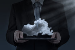 A Cloud Computing diagram on the new computer interface Royalty Free Stock Image