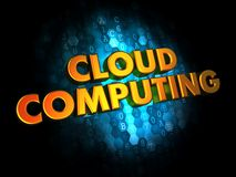 Cloud Computing on Digital Background. Royalty Free Stock Photo