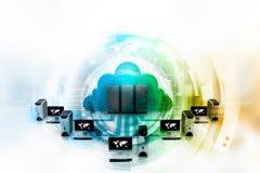 Cloud computing. Digital illustration of Cloud computing concept Stock Image
