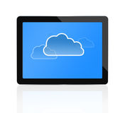 Cloud computing at digital tablet Stock Image