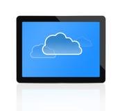 Cloud computing at digital tablet royalty free illustration