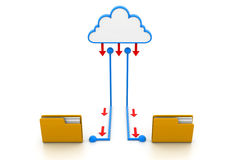 Cloud computing documents Royalty Free Stock Photography