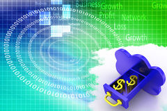 Cloud Computing With Dollars In It Illustration Royalty Free Stock Images