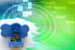 Cloud Computing With Dollars In It Illustration Stock Photo