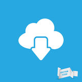 Cloud computing download icon Stock Photography