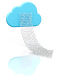 Cloud computing and downloading Royalty Free Stock Photo