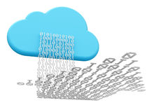 Cloud computing and downloading Royalty Free Stock Image