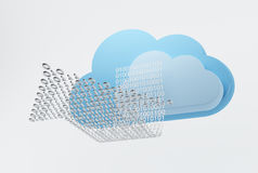Cloud computing, downloading Royalty Free Stock Photos