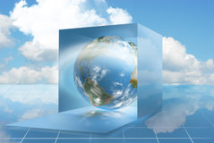 Cloud computing in a dropbox Royalty Free Stock Photo