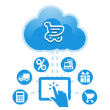 Cloud, computing, electronic, commerce, service illustration. Stock Photography