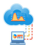 Cloud, computing, electronic, commerce, service illustration. Stock Photos