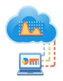 Cloud, computing, electronic, commerce, service illustration. Stock Photos