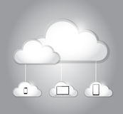 Cloud computing electronics connection Royalty Free Stock Photography