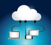 Cloud computing electronics illustration design Stock Photo