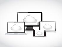Cloud computing electronics illustration Stock Image