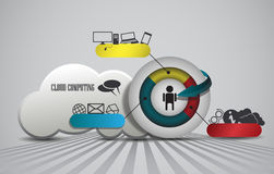 Cloud computing, element infographic Stock Images