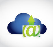 Cloud computing and email illustration design Royalty Free Stock Photography
