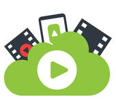 Cloud Computing and Entertainment Royalty Free Stock Image